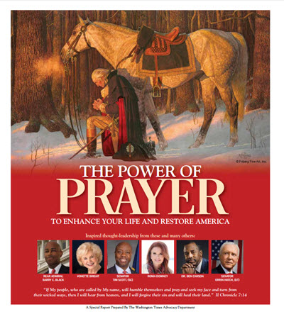 The Washington Times - Special Section on the Power of Prayer